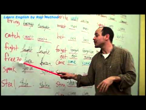 Learn English by Rap method - Irregular Verbs