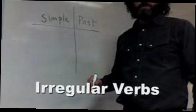 Урок 6.4. Irregular Verbs in the Past Tense