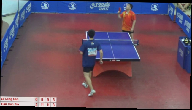 Cao Ze Long vs Yin Tian Duo,9:11; 9:11; 9:11;0:3