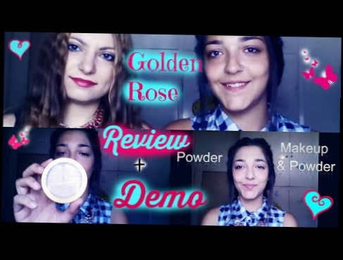 Review And Demo Golden Rose Powder || Summer Series || Beauty Within Us