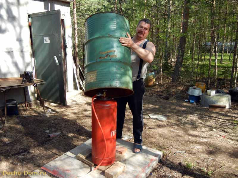 Деревянный ящик для газового баллона 149