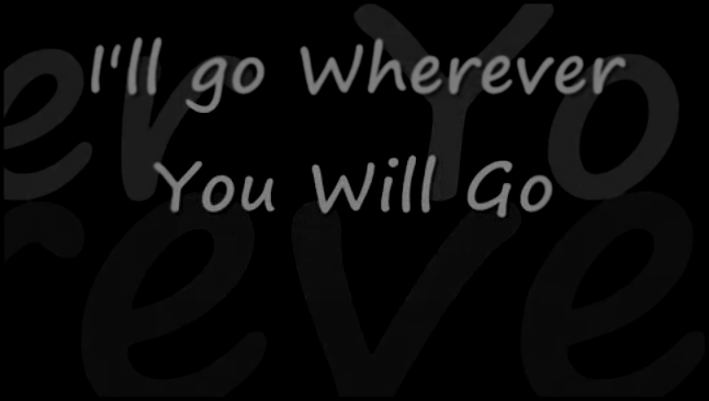 The Calling - Wherever You Will Go with Lyrics