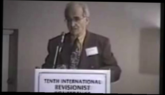 1990 - 10th IHR - Robert Faurisson speaks (ENGLISH, Inst...