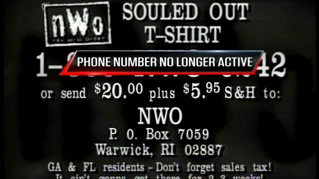 nWo Souled Out T-Shirt Commercial @ WCW Monday Nitro 20.01.1997