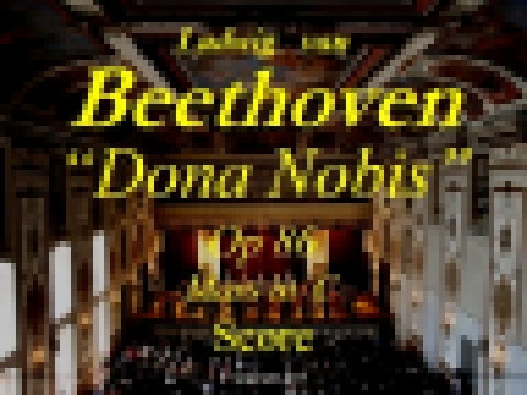 Beethoven - Op86 - Mass in C Major - 6b Dona Nobis Pacem - Score