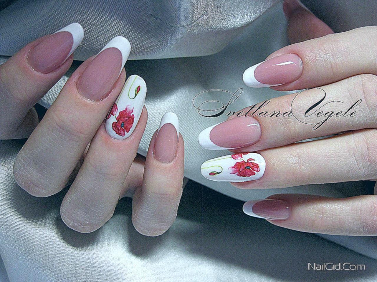 Свадебный маникюр с красным цветом фото