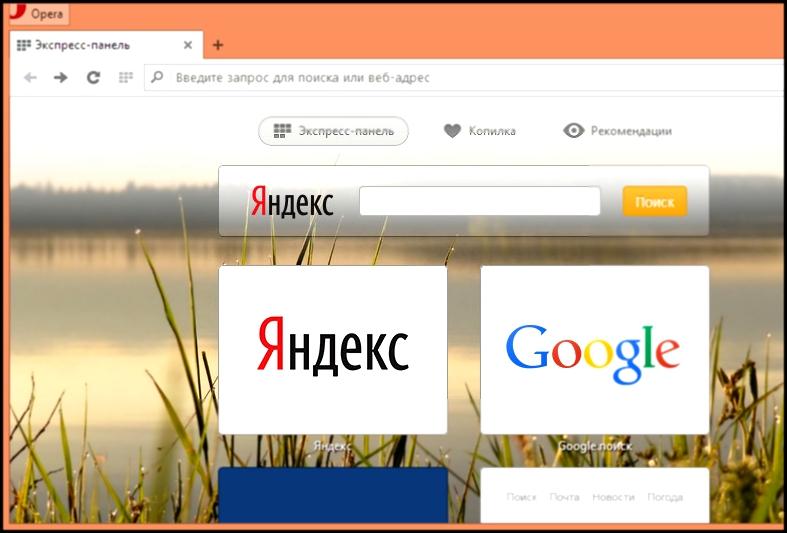 Как в опере сделать поисковик гугл по умолчанию