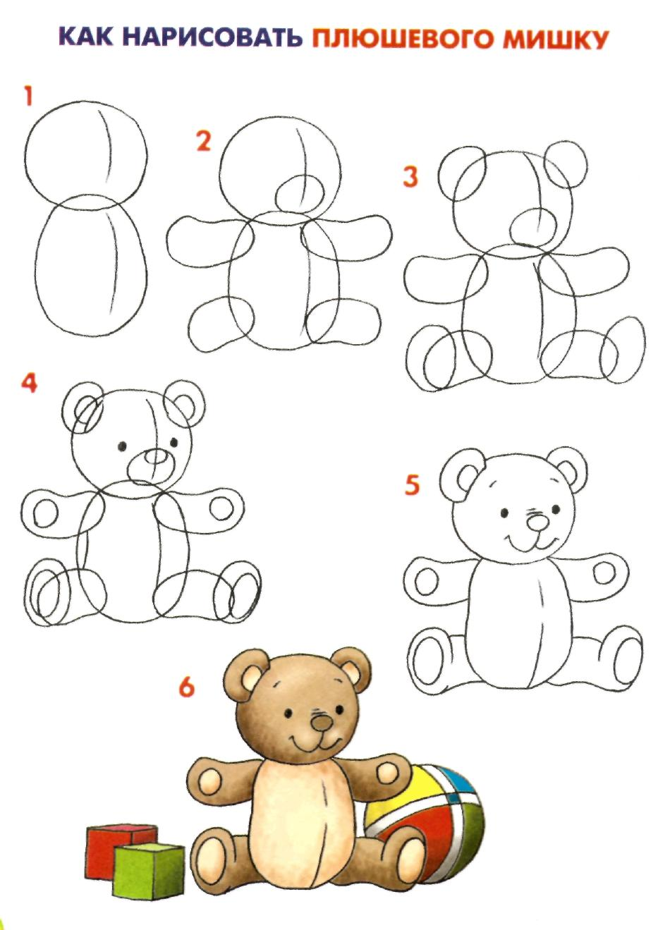Животные рисунок карандашом поэтапно для детей 8