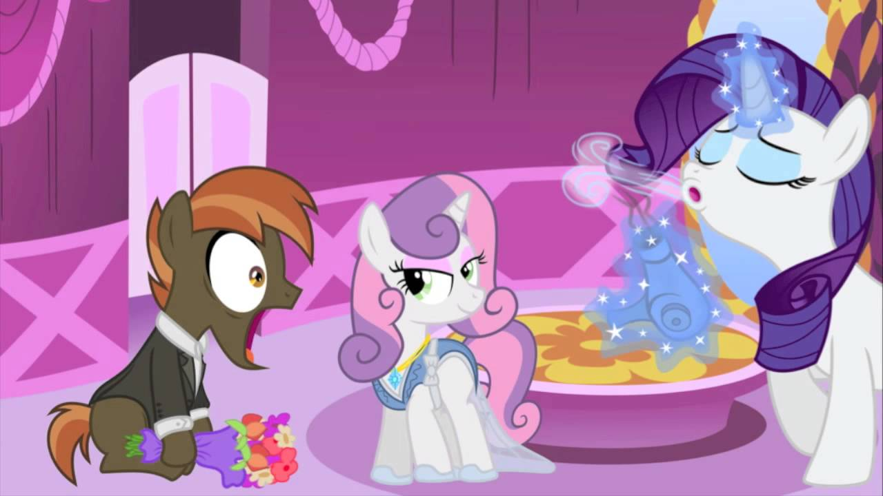 My little pony sweetie belle and button mash kids